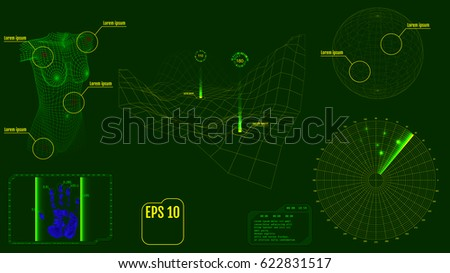 radar screen with virus