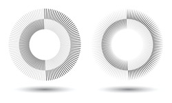 Radial lines in circle form, logo icon