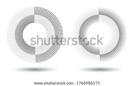 Radial lines in circle form, logo icon Stock photo ©