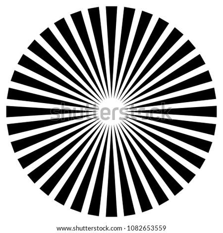 Radial lines, starburst, sunburst element isolated on white