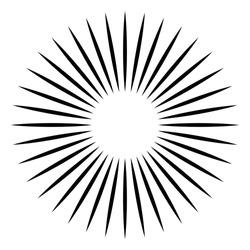 Radial - radiating lines burst element Circular, concentric lines