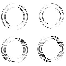 Radial speed Lines in Circle Form for comic books . Explosion background . Vector Illustration .Technology round Logo . Circular Design element . Abstract Geometric shape . Sunburst .