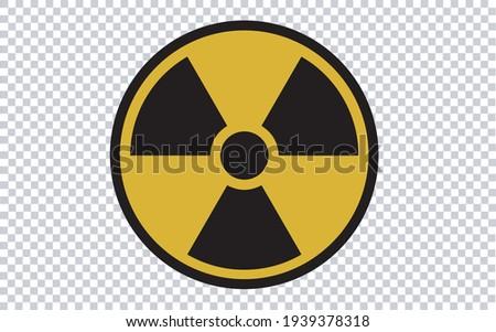 Radiation caution. Vector illustration symbol. Transparent background. Сток-фото ©