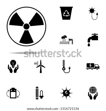 Radiation hazard Radiation hazard icon. Energy icons universal set for web and mobile