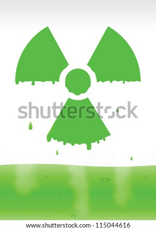 Radiation icon in vector