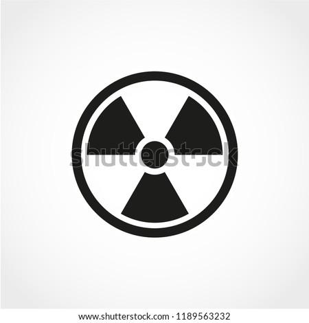 Radiation Icon Isolated on White Background