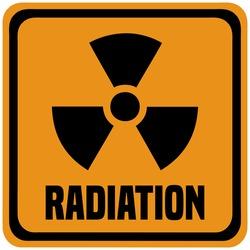 Radiation Industrial Warning Sign.