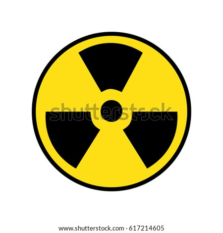 Radiation sign. Symbol for radiation