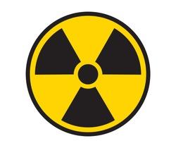 radiation symbol radiation icon yellow and black