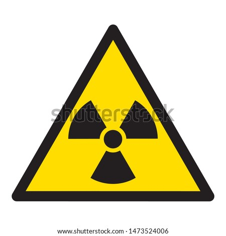 Radiation symbol. Radiation warning sign, isolated on white background. The radiation icon. Vector illustration