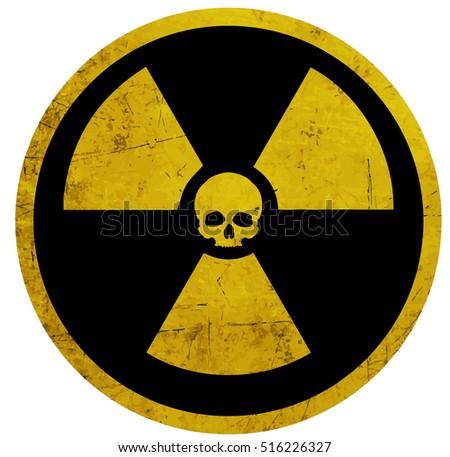 radiation symbol skull