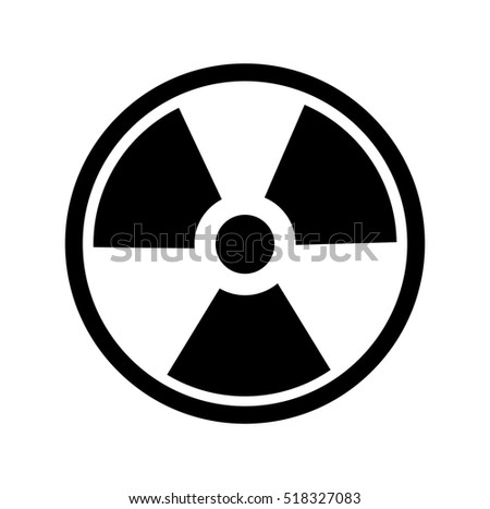 Radiation Symbol. Vector, Radiation Symbol. no background