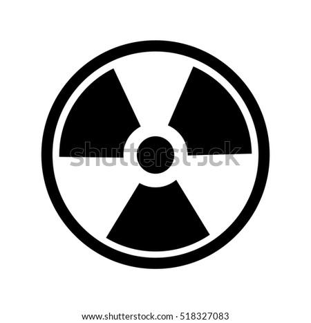 Radiation Symbol. Vector, Radiation Symbol. no background
