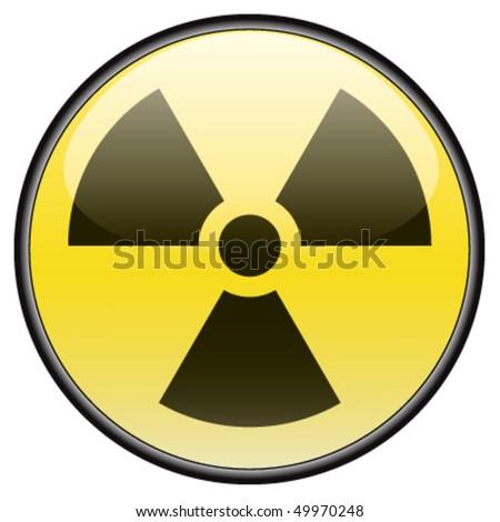 Radiation vector round hazardous sign