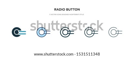 radio button icon in different style vector illustration. two colored and black radio button vector icons designed in filled, outline, line and stroke style can be used for web, mobile, ui