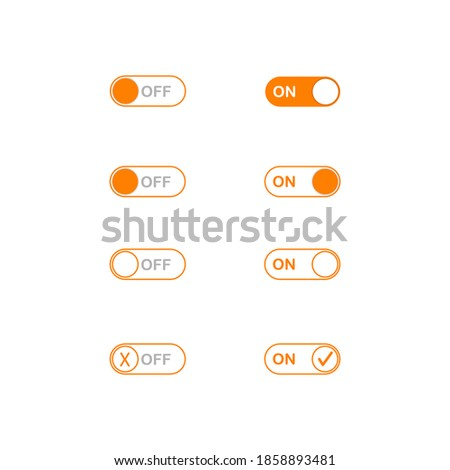 Radio button template isolated on white background. suitable for your web design, apps, mobile or smartphone with vector illustration