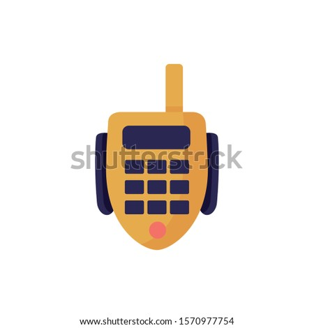 radio communicator device isolated icon vector illustration design