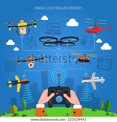 radio controlled drones concept