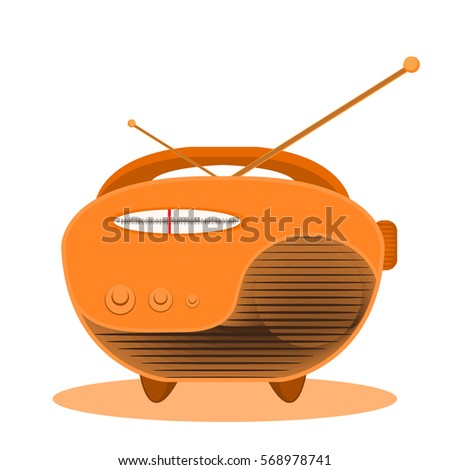 Radio for World Radio Day. Isolated radio