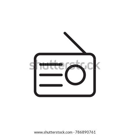 Radio icon in trendy flat style isolated on background. Radio icon page symbol for your web site design Radio icon logo, app, UI. Radio icon Vector illustration, EPS10.
