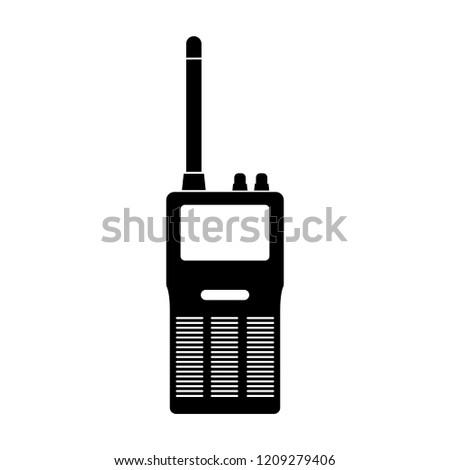 Radio icon, logo on white background