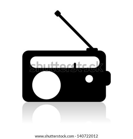 radio icon silhouette