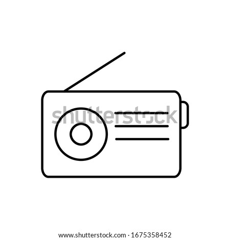 Radio icon simple vector design. Radio logo template
