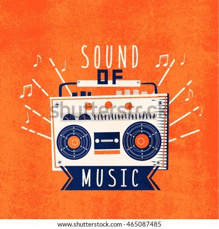 radio illustration design