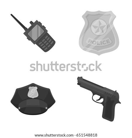 radio  police officer's badge