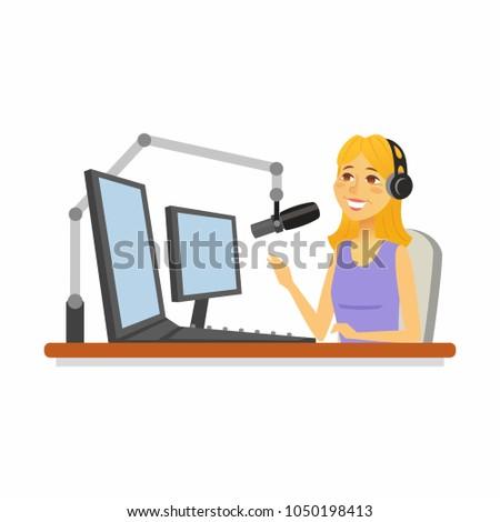 radio presenter   cartoon
