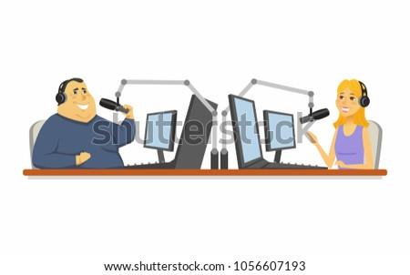 radio presenters   cartoon