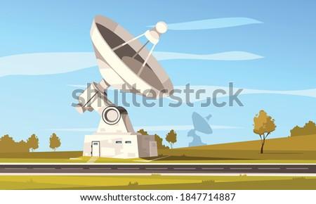 radio telescope station with