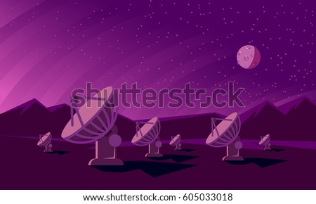 radio telescopes track the