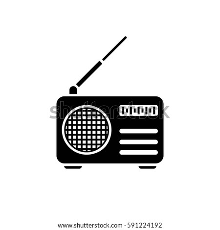 radio vector icon