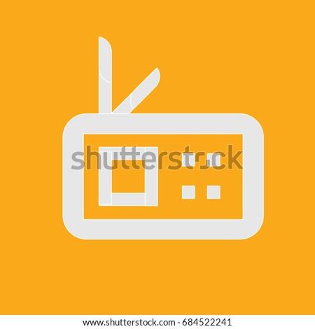 Radio vector icon ; square radio icon , flat radio icon