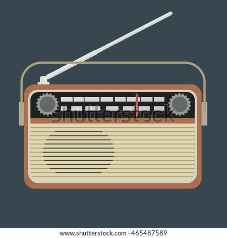 Radio vector illustration