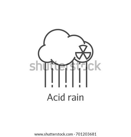 radioactive cloud and acid rain
