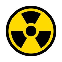 Radioactive contamination symbol. Vector illustration.