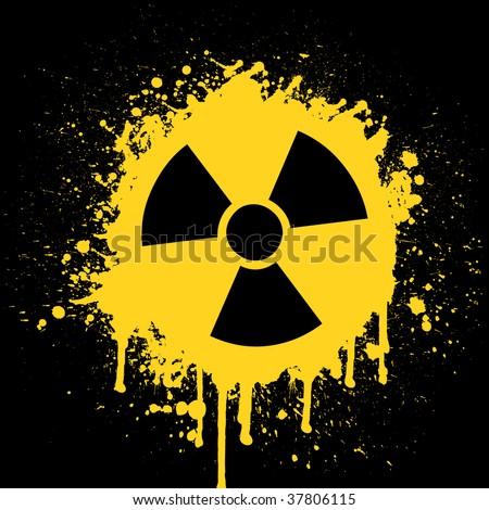 radioactive wallpaper. stock vector : radioactive
