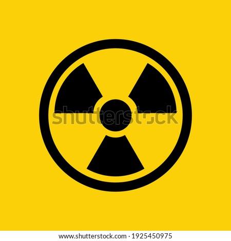 radioactive icon. radioactive warning symbol. Сток-фото ©