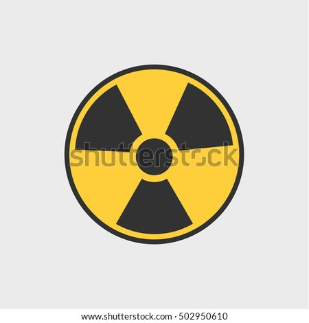 radioactive icon  vector design