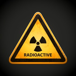 Radioactive nuclear reactor sign