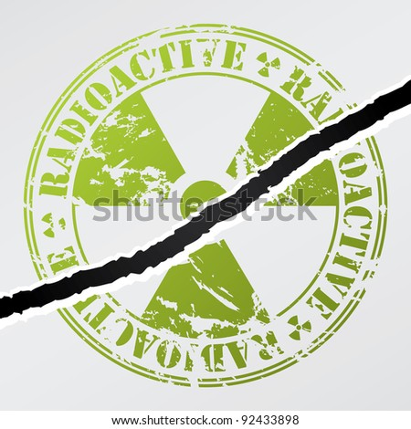 Radioactive seal damaged by crack on wall
