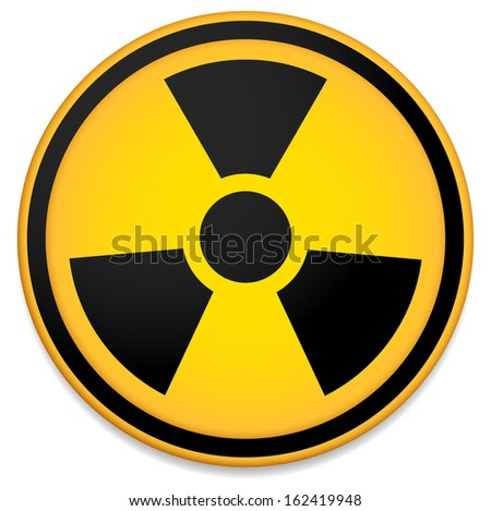 radioactive sign  symbol in