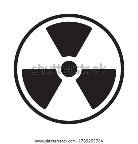 Radioactive symbol icon. Nuclear radiation warning sign. Atomic energy logo. Vector illustration image. Isolated on white background. Foto stock ©