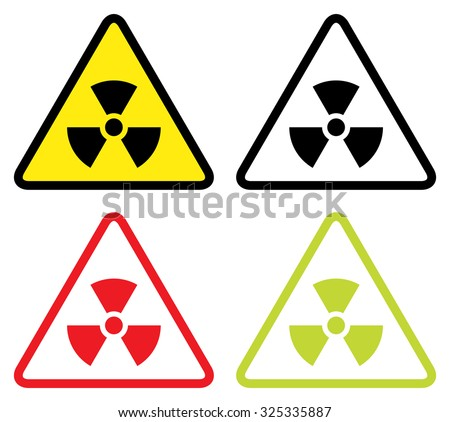 radioactive symbol in flat