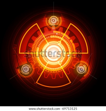 Radioactive techno gears