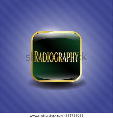 Radiography gold shiny badge