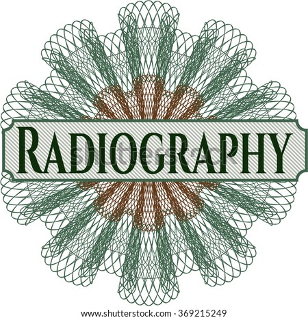 Radiography money style rosette