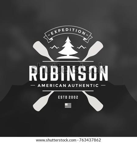 rafting logo emblem vector...